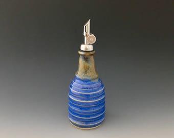 Olive Oil Decanter, Oil Bottle, Oil Cruet, Oil Dispenser, Oil Pourer, Vinegar Cruet Handmade Pottery Ceramic by NorthWind Pottery