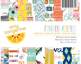 6x6 Amy Tangerine Finders Keepers Paper Pad