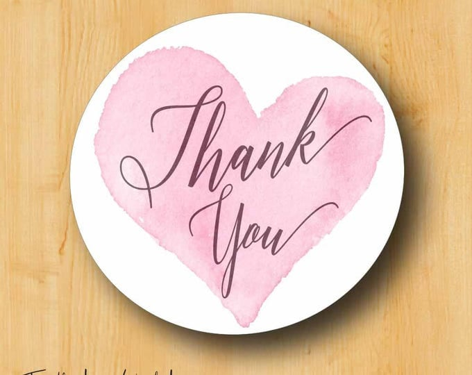 Thank You Stickers | Bridal Stickers | Wedding Labels | Wedding Stickers for Favors | Thank You Labels | Calligraphy Labels | Elegant Labels