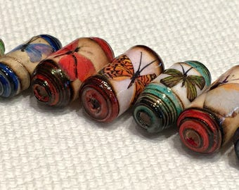 Paper Beads - Burnished Butterflies