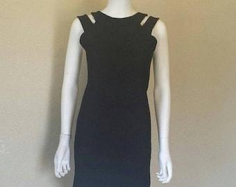 25% off SALE Black cutout sleeveless dress