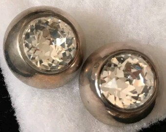 Vintage Whiting and Davis Clip Earrings 165