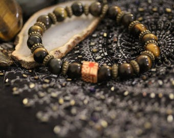 "Bracelet ""Strength & Courage"" - ↠ stone: Tiger eye (Courage. Protection. Confidence to be) ↠ Zen Yoga Meditation ↠"