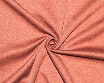 """Peach Ponte Di Roma Double Knit Polyester Spandex Lycra Stretch Medium Weight Apparel Craft Fabric 58""""-60"""" Wide By The Yard"""