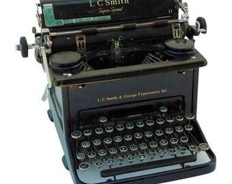 LC Smith And Corona Typewriter, LC Smith, Super Speed, Black Typewriter, Corona Typewriter, Vintage Typewriter Machine, Working Typewriter