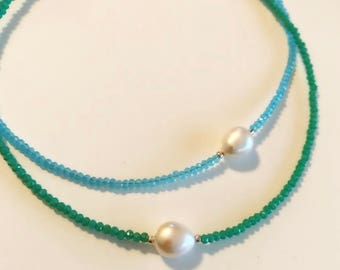 Beads ans pearl chokers