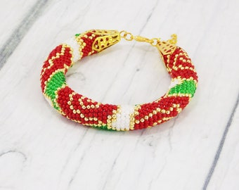 Lady gift floral jewelry beaded bracelet red rose jewelry natural jewelry flower bracelet summer jewelry mini rose bracelet romantic jewelry