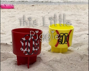 Monogrammed Beach Sand Spikes