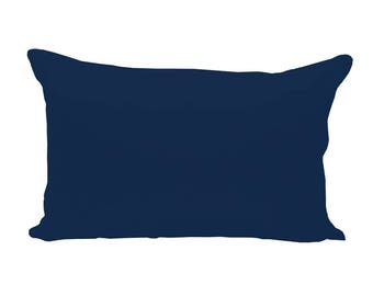 BLANK Lumbar Pillow Cover - Navy