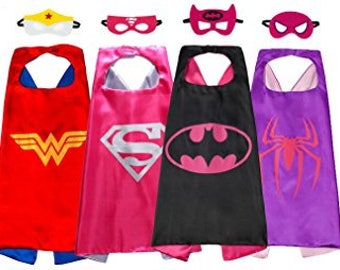 Super hero capes and felt masks