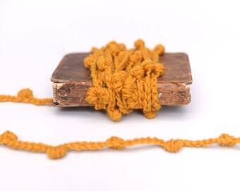 Pom Pom garland, crochet garland, garland, Christmas garland, mantel decor, handmade garland, tree garland, mini garland,