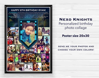Lego Nexo Knights Poster! Customized Birthday Milestone size 20x30