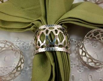 Vintage Silver-plate Napkin Rings~ Set of 8