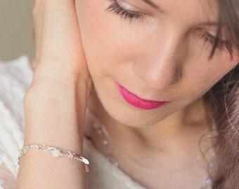 Lust sequins silver plated bracelet