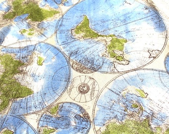 World map fabric etsy world map fabric gumiabroncs Gallery
