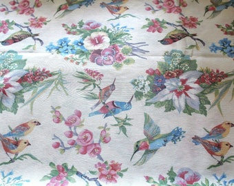 Fabric upholstery 50 x 70 cm birds