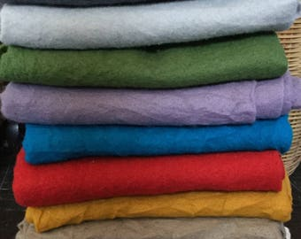 Superfine Merino Prefelt (19 microns) for Needle Felting/Felted Couture