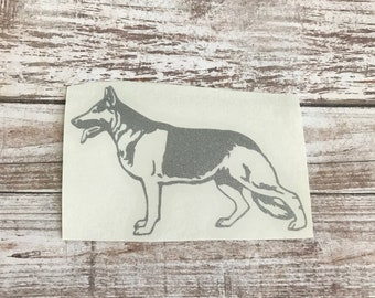 German Shepherd Dog Animal Vinyl Decal Car Laptop Wine Glass Sticker