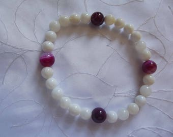 PEARL BRACELET AND PINK AGATE