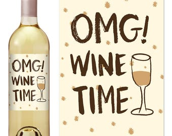 Boss Gift Wine Label - Boss Appreciation Gift - Boss Christmas Gift - Wine Label For Boss - Funny Wine Label - Boss Day - OMG