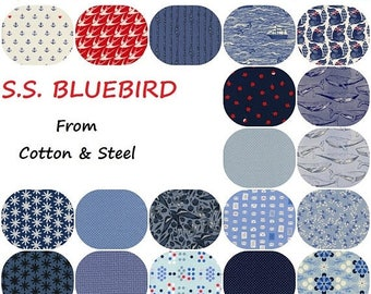 VACATION SALE Fat Quarter Bundle(19) S.S. Bluebird 2017  Collaborative  Fat Quarters