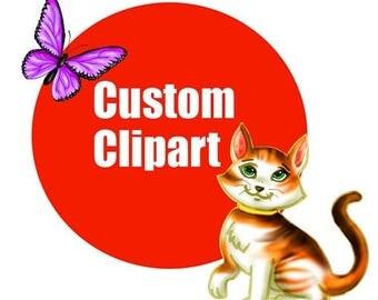50% OFF Custom Clipart Graphics, Custom clip art, digital clipart, custom made, illustrations, custom, png jpeg, instant download