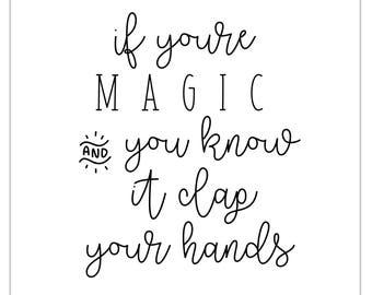 Clap Your Hands | Digital Print