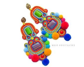 Dogo-Fogo- soutache earrings, orecchini soutache, boucles d'oreilles soutache,boho style, boho earrings