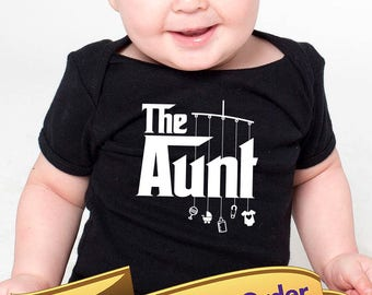 aunt onesie or toddler shirt with mobile toys   |   great gift for an aunt