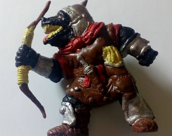 1982 Orcs of the Broken Bone Advanced Dungeons and Dragons vintage rubber figure by TSR Hobbies