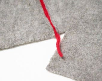 scarf in organic wool and cashmere
