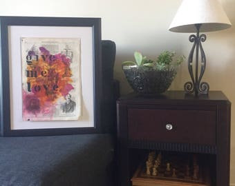 "Unique watercolor typography - ""Give me love"""