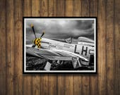 Yellow Nose P51C Mustang WW2 Fighter Plane Photograph