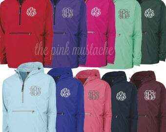 SALE Monogrammed Rain Jacket / Windbreaker Rain Jacket / Women's Pullover