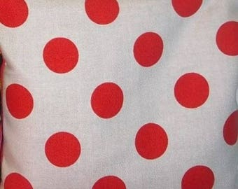 Riley Blake Off White with Red Dots Cotton Fabric 1/2 Yard Cut New