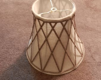 Vintage Fabric Bell Shade - Spider Attachment