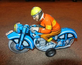 Post War Tin Toys - Motorcycle
