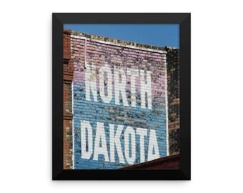Framed photo paper poster - Red Silo Original Art - North Dakota Building