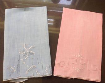 Vintage handkerchief - set of 2