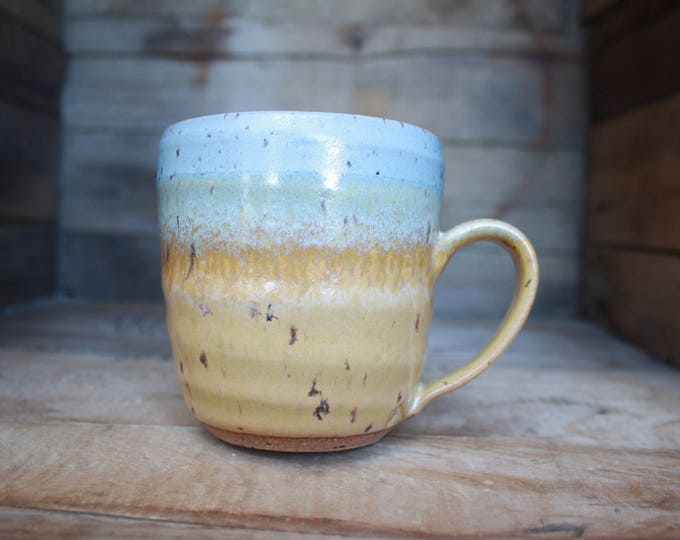 Coffee Mug - Pottery Mug - Wheel Thrown Pottery - Ceramics & Pottery - KJ Pottery