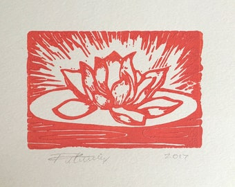 Tangerine Pink Lotus Flower