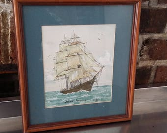 Original Watercolour Mayflower Young America