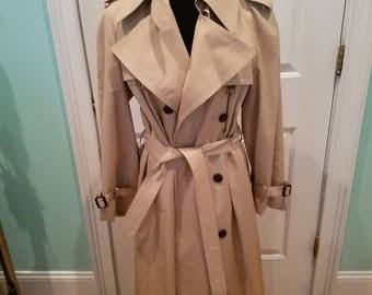 Vintage 70'S Etienne Aigner Classic Trench Coat Nos