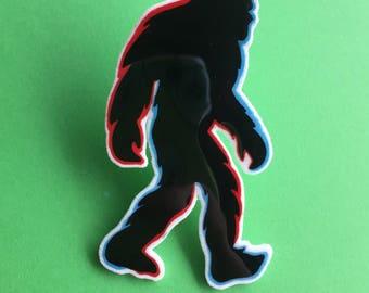 3D Sasquatch Acrylic Pin - bigfoot horror lapel pin