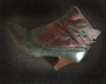 Ausgefallene Vintage Ankle Boots im Stil der 30er Jahre