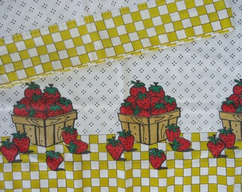 Vintage Strawberry Curtains