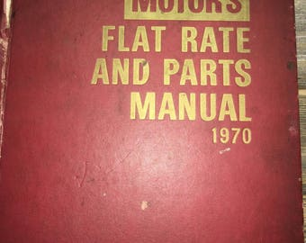 Motor's flat rate and parts manual 1970