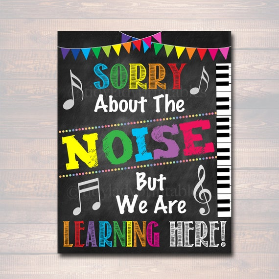 Music Teacher Classroom Decorations ~ Music teacher classroom printable poster decor