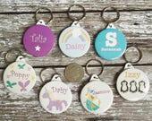 Personalised childrens keyring - name keyring keyring - handmade personalised keyring - stocking filler - party bag filler