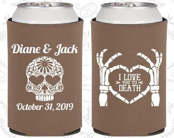I Love you to Death, Sugar Skull Wedding, Day of the Dead Wedding, Candy Skull Wedding Favors, Dia De Los Muertos Wedding Favors (205)